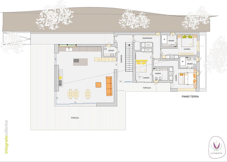 Ground floor plan of B&B La Mugletta