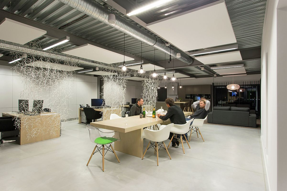 Industrial interior of modern office in France