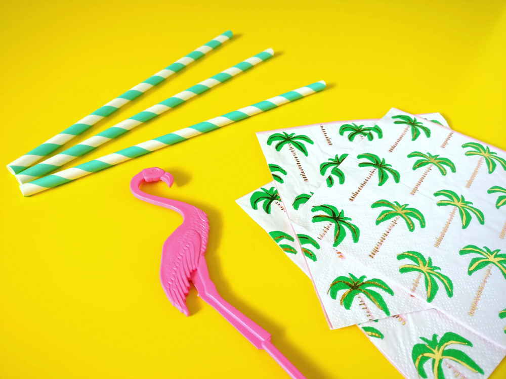Ingredients for a tropical party