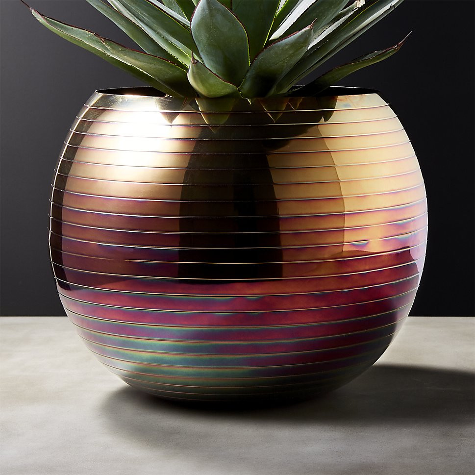 Iridescent planter and vase