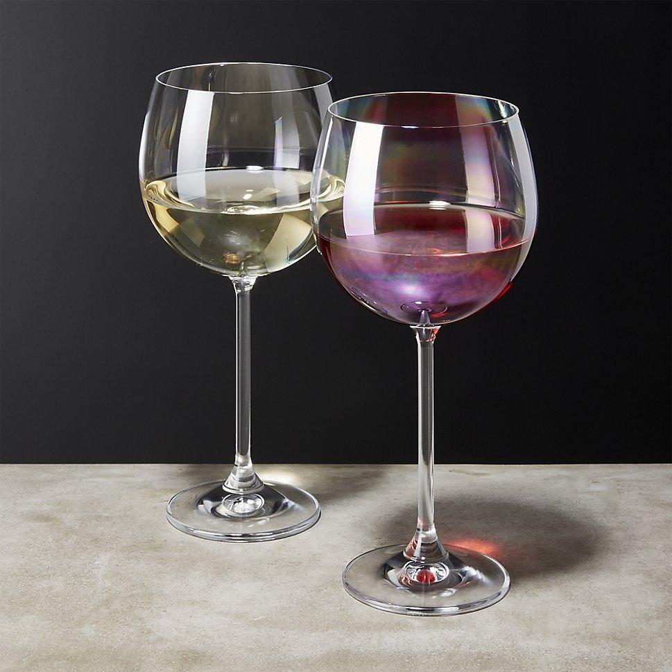 Iridescent wine glass from CB2