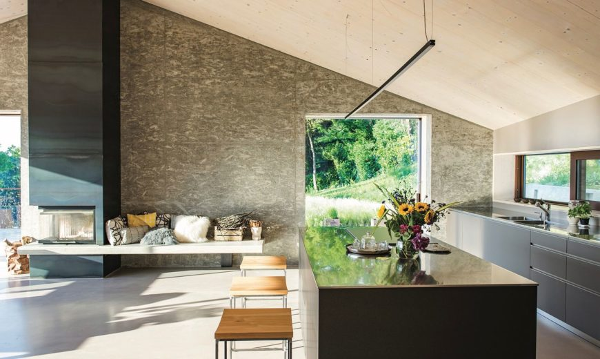 Wood, Cement and Glass Shape Modern Eco-Friendly B&B in Veneto