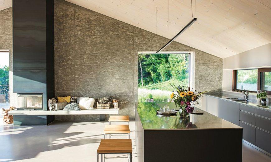 Wood, Cement and Glass Shape Modern Eco-Friendly B&B in Veneto