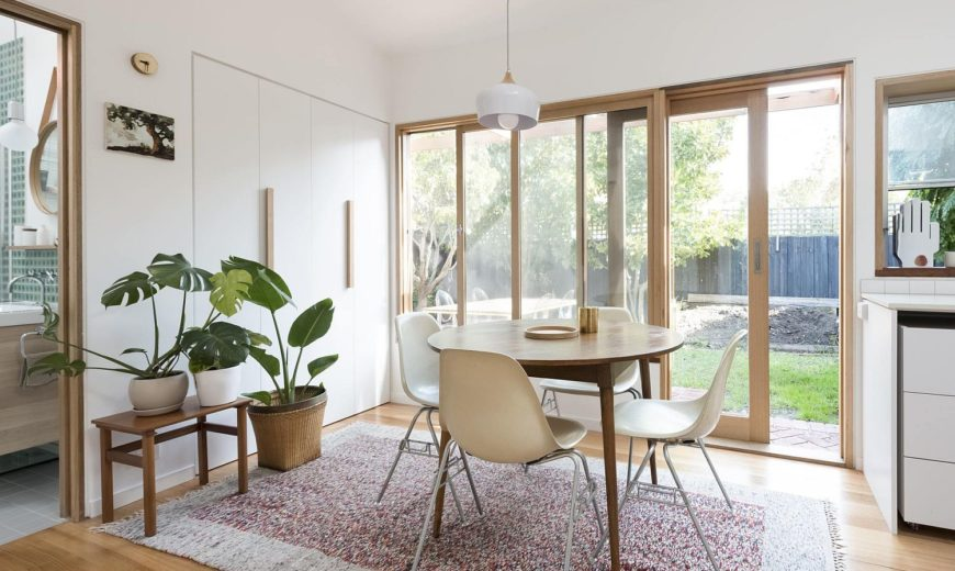 Cheerful Rear Addition to Melbourne Home in White, Timber and Copper