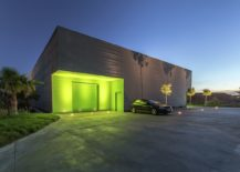 Lighting-highlights-the-green-entrance-of-the-office-217x155