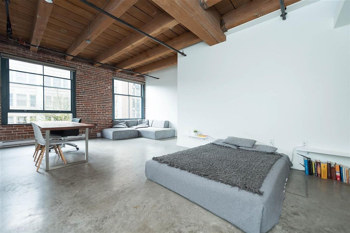 Modern Industrial Vancouver Apartment In Wood Concrete And Brick