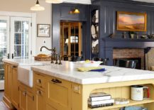 Mellow-yellow-kitchen-island-feels-perfectly-at-home-in-a-modern-setting-217x155