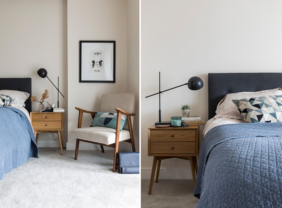 Modern and minimal wooden bedside table