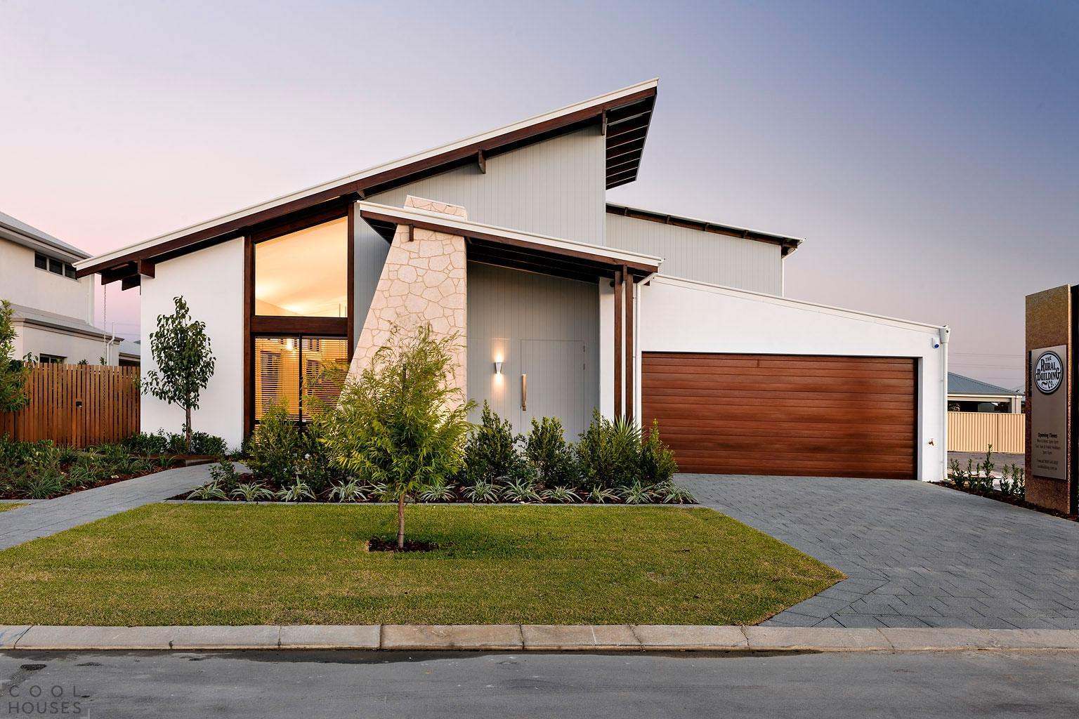 Modern driveway that embodies simplicity and elegance