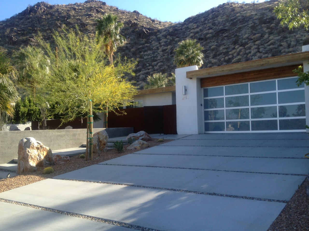 Modern driveway with a deluxe appearance