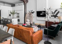Modern eclectic NoHO Loft in New York City 217x155 Modern Eclectic Finds an Industrial Home in the Heart of New York City!