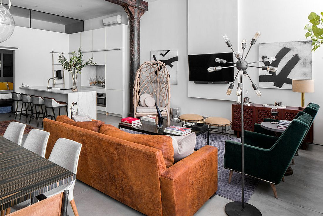 View in gallery modern eclectic noho loft in new york