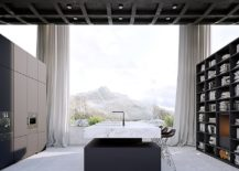 Monochromatic-kitchen-and-dining-of-the-Infinity-House-217x155