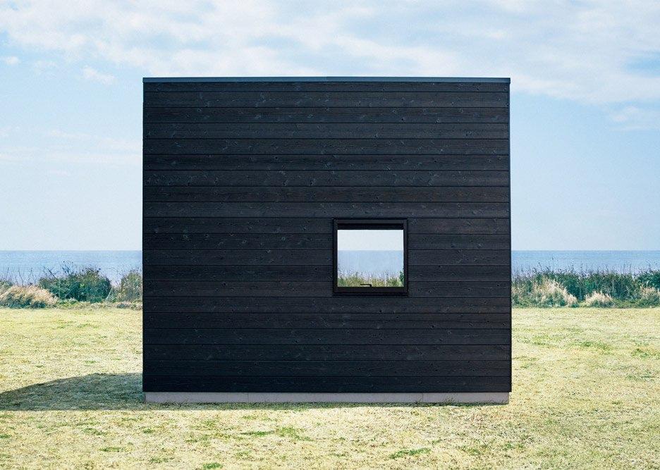 Muji hut wood cladding