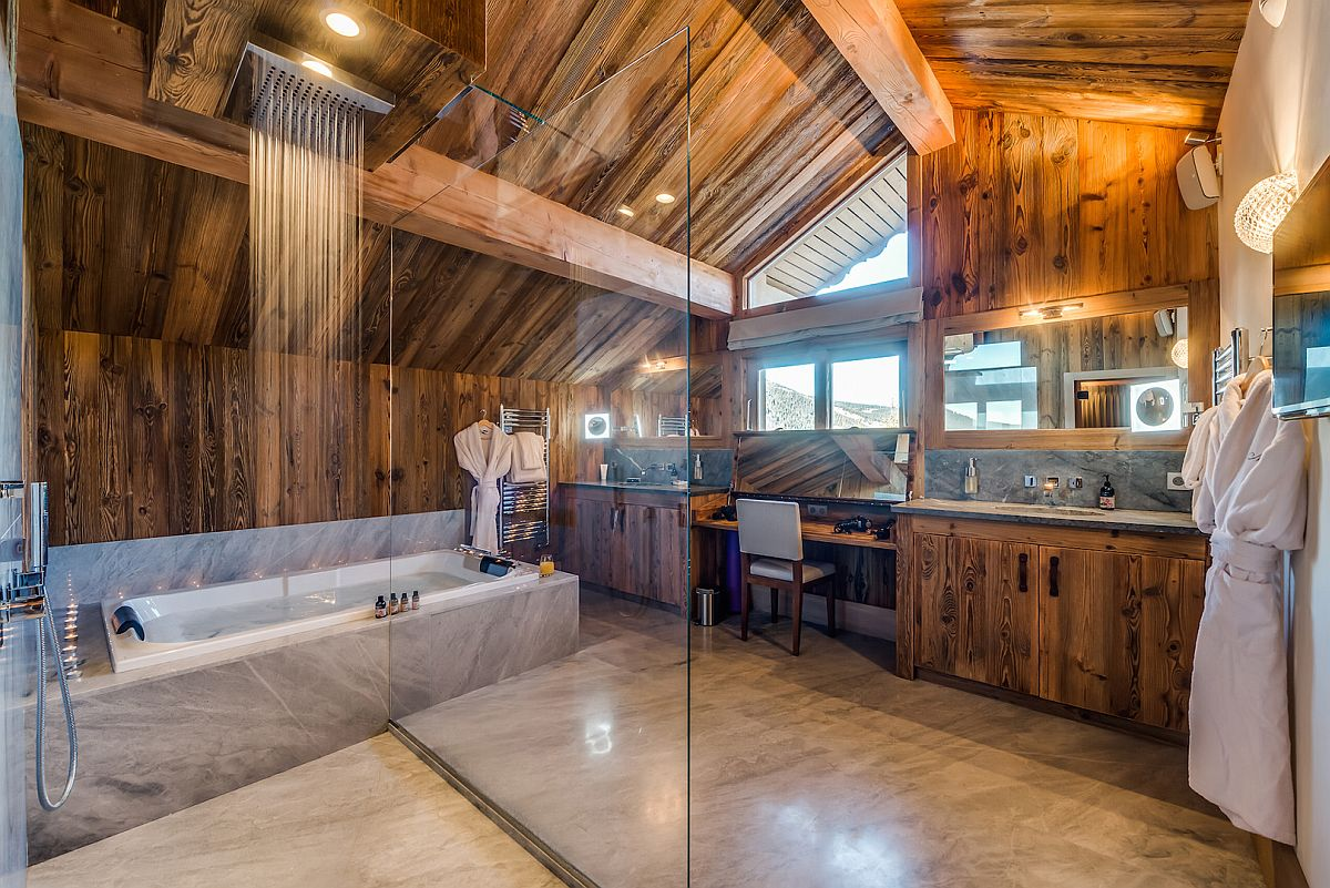 Rejuvinating-master-bathroom-with-wooden-walls
