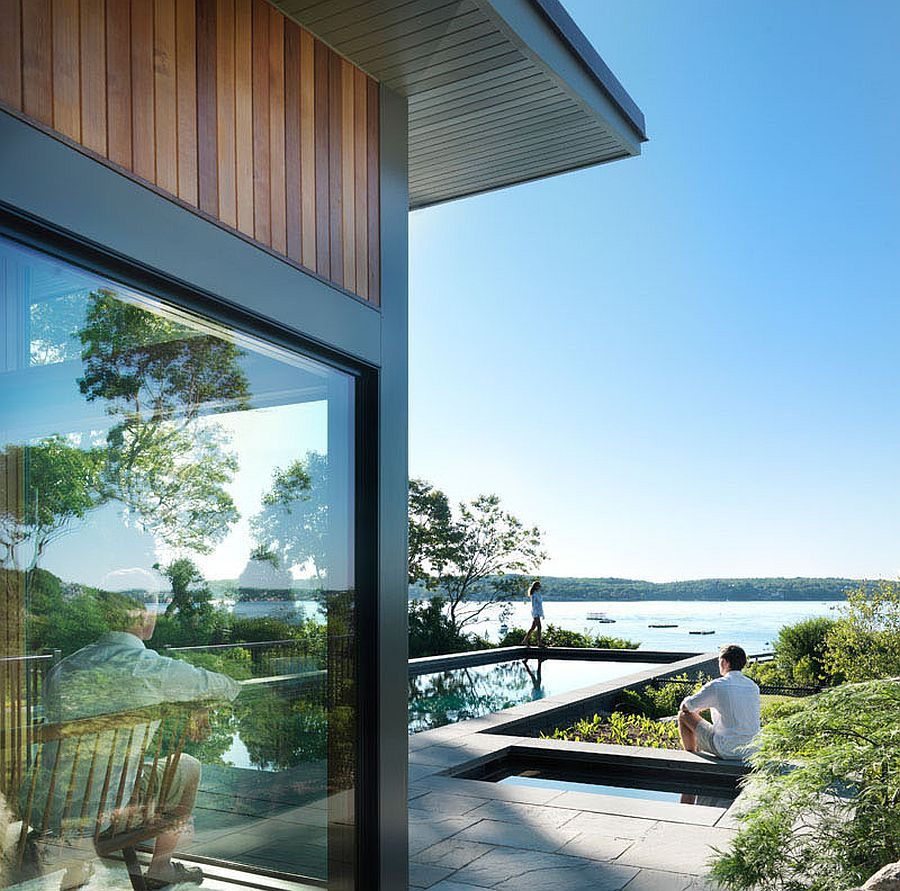 Scenic views of the Gloucester harbor from the innovative guest house
