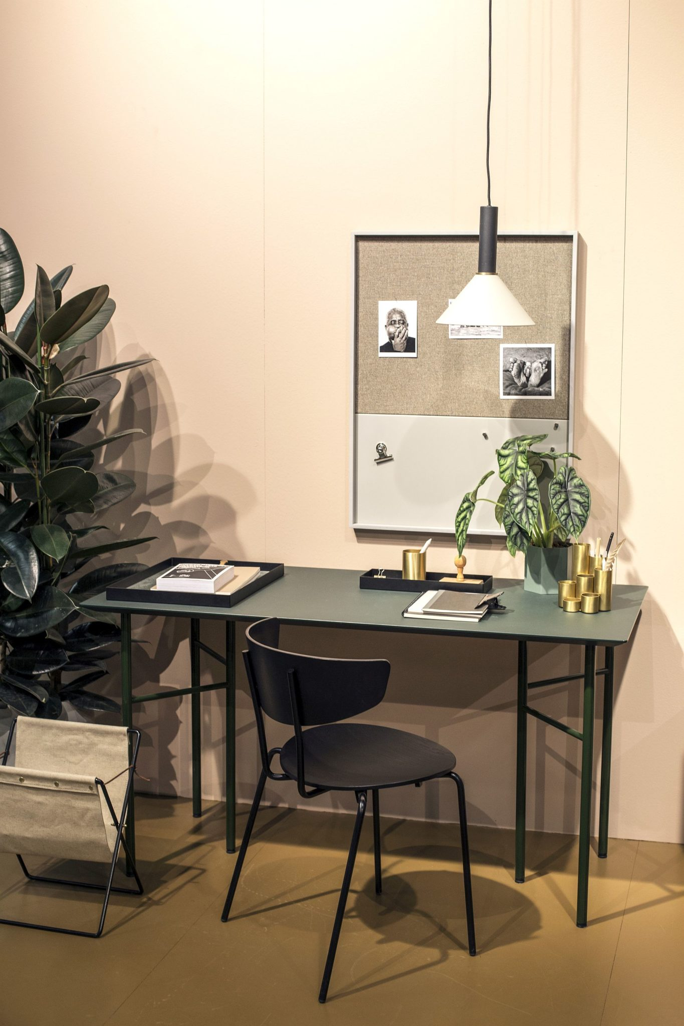 Small-home-workspace-with-metallic-pops-and-stylish-accents-from-Ferm-Living