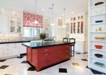 Striking-kitchen-island-in-red-and-black-217x155