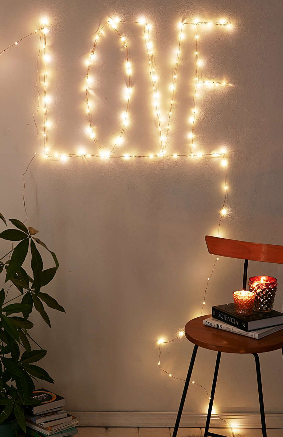 String lights as contemporary wall art