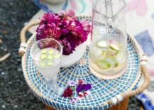 Summer drinks on a woven tray 217x155 5 Festive Summer Party Themes
