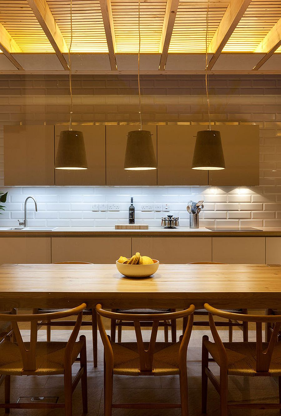 Timber pendants for the modern dining room