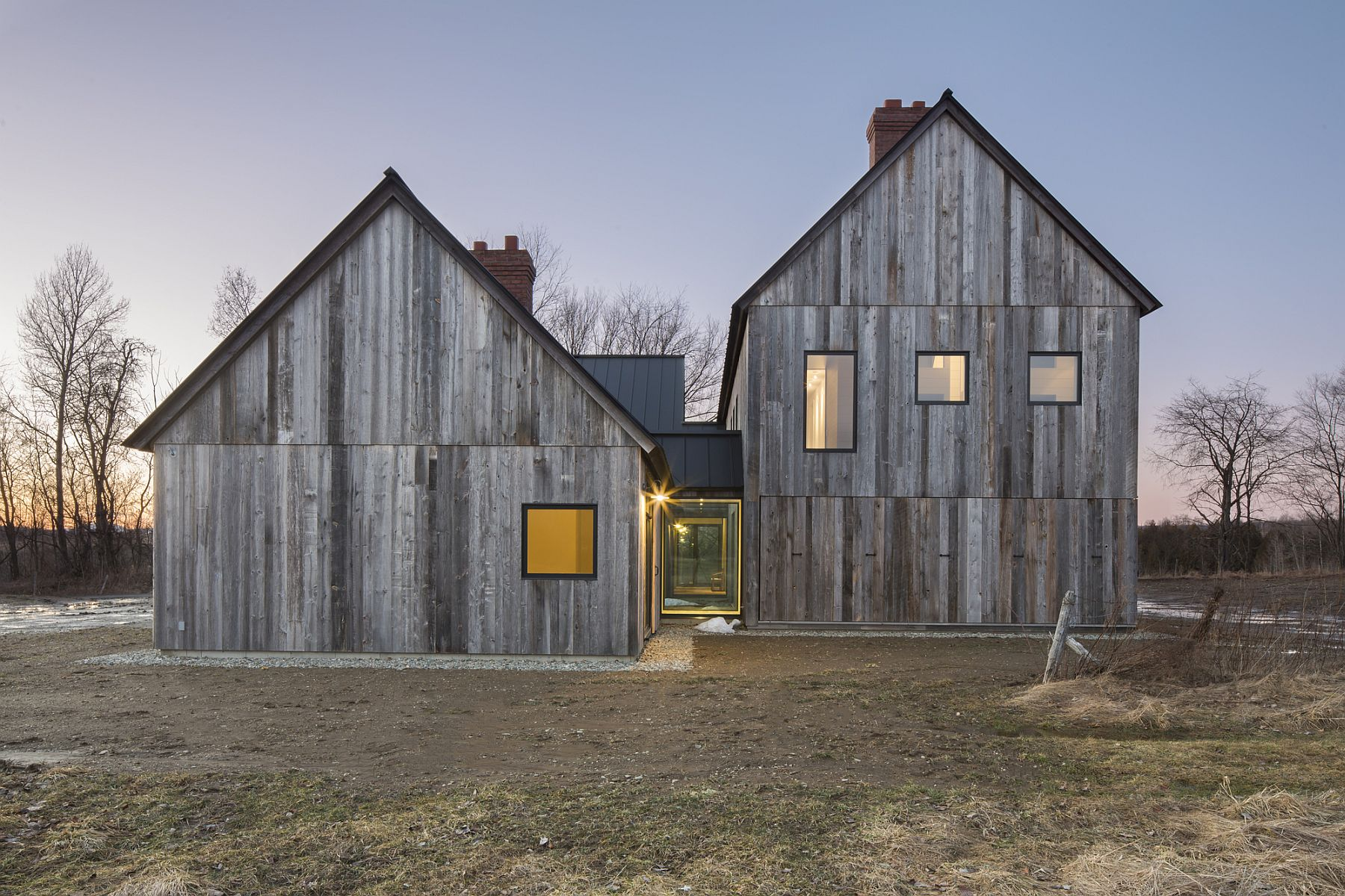 Townships Farmhouse in North Hatley Townships Farmhouse in Quebec Embraces Modernity Wrapped in Rustic Sheen