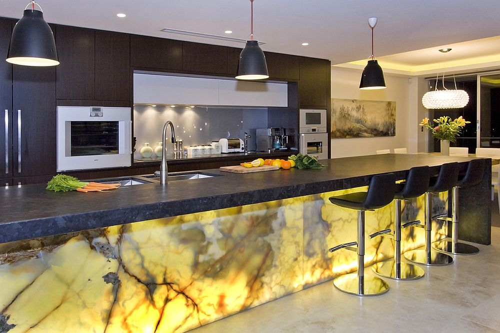 Try out the splendor of Onyx to shape a unique kitchen island