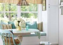 Window seat can also double as a cool little breakfast zone when needed 217x155 10 Delightful Kitchens with Window Seats
