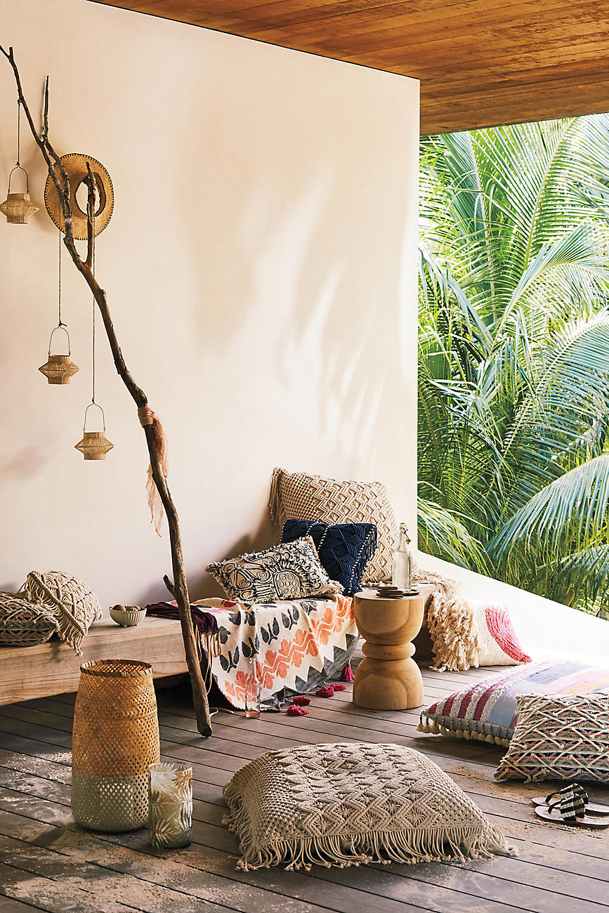Woven decor from Anthropologie