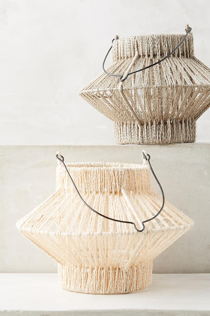 Woven geometric lanterns
