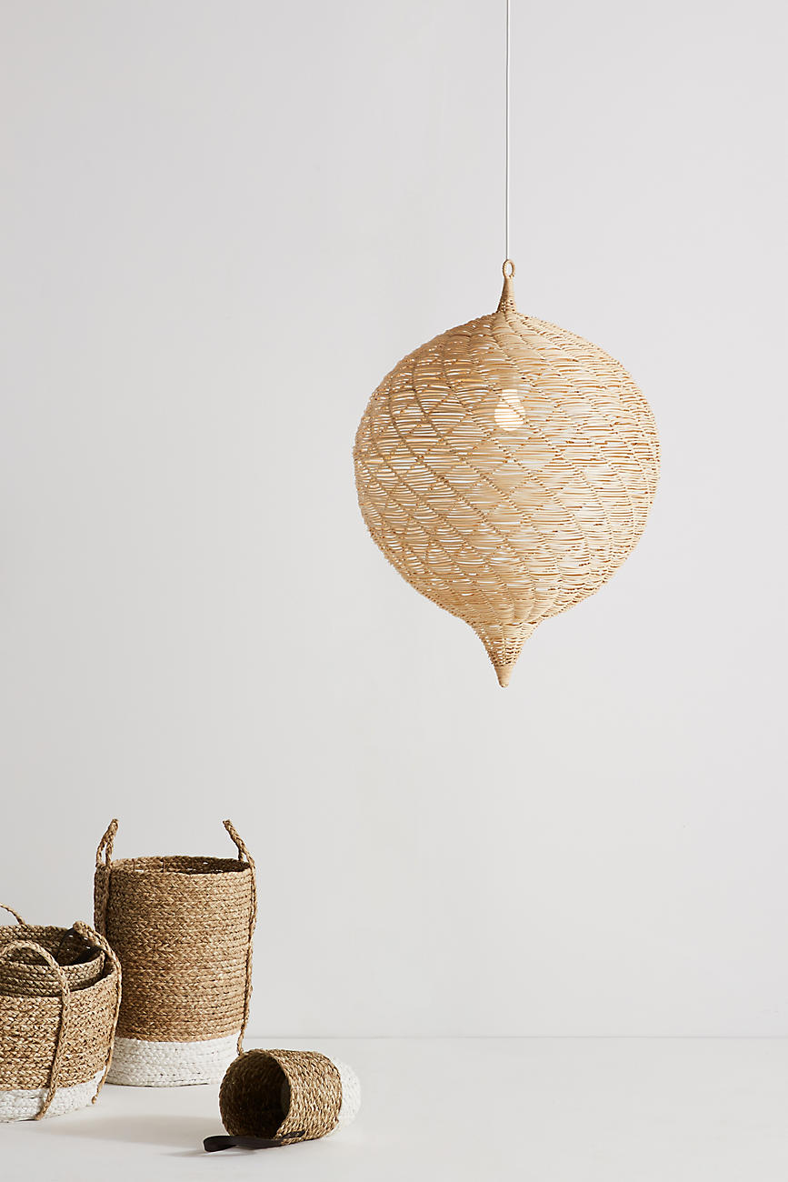 Woven pendant from Anthropologie