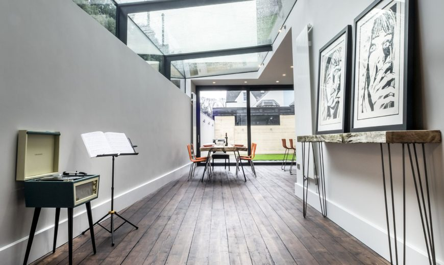 Superb Modern Revamp Involving A Glass Roof Transforms This Dark Victorian House