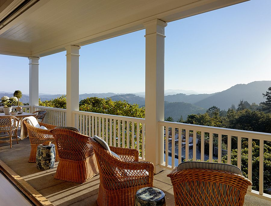 Amazing views of the landscape from the balcony of the Marin County Home