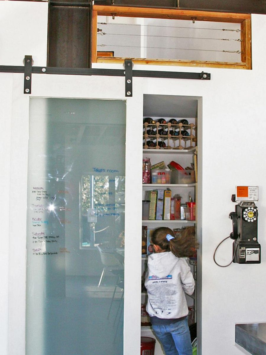 Barn-style-sliding-glass-door-for-the-modern-pantry