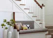 Beach style entry with a collection of floor vases 217x155 11 Ways to Decorate the Entryway with Floor Vases