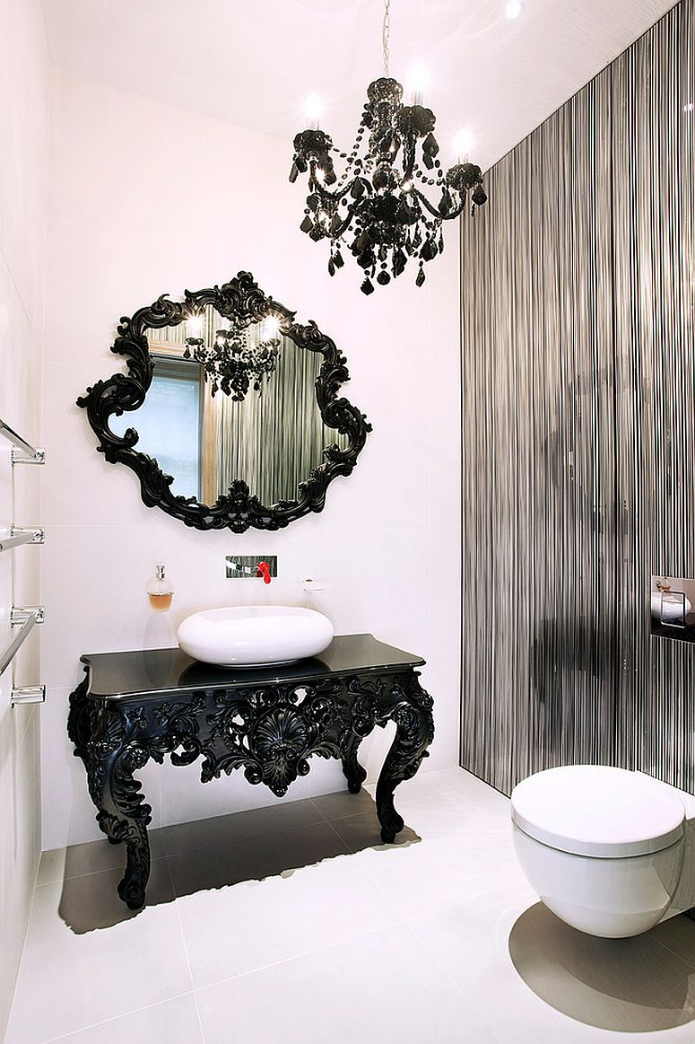... Black And White Bathroom View In Gallery ...