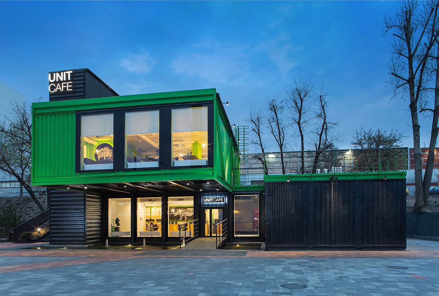 This Flamboyant Cafe In Kiev Is Made Out Of 14 Shipping Containers