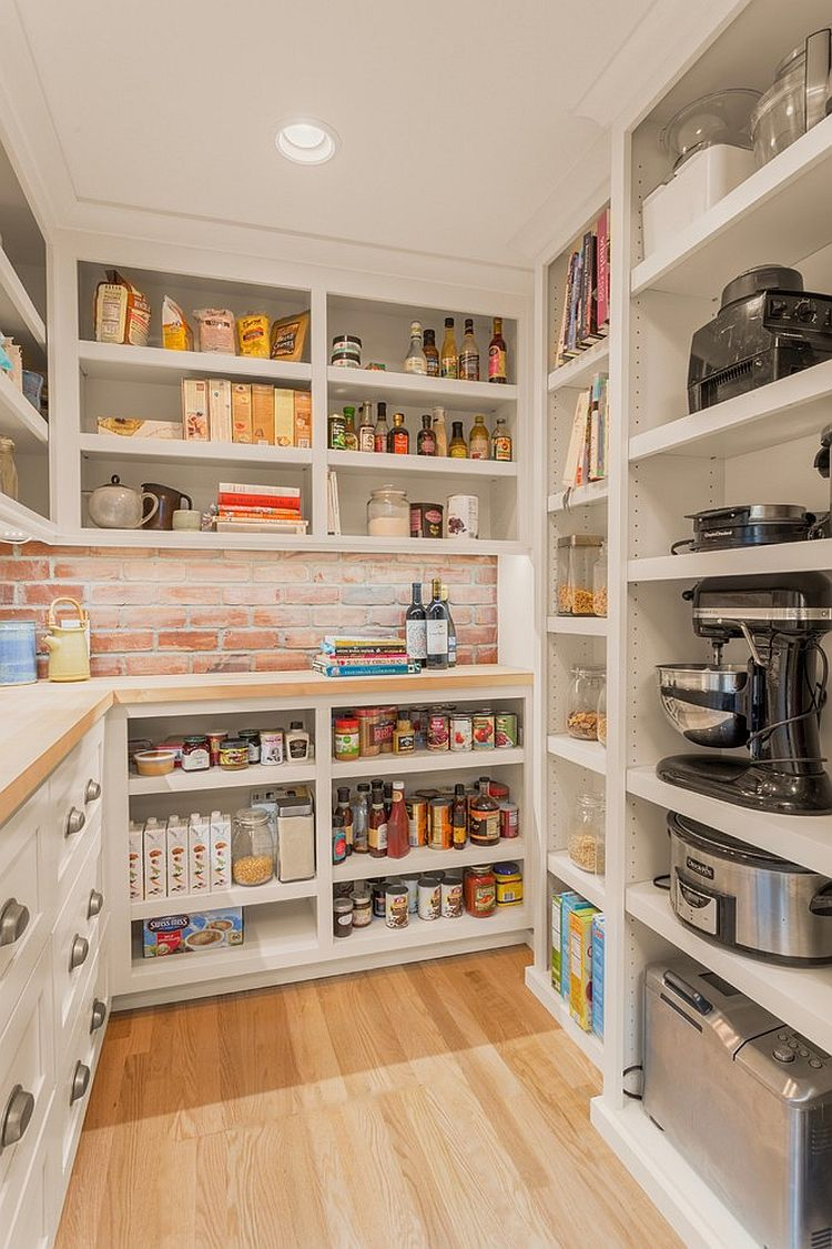 10 unique pantries that usher textural beauty into modern for Modern walk in pantry