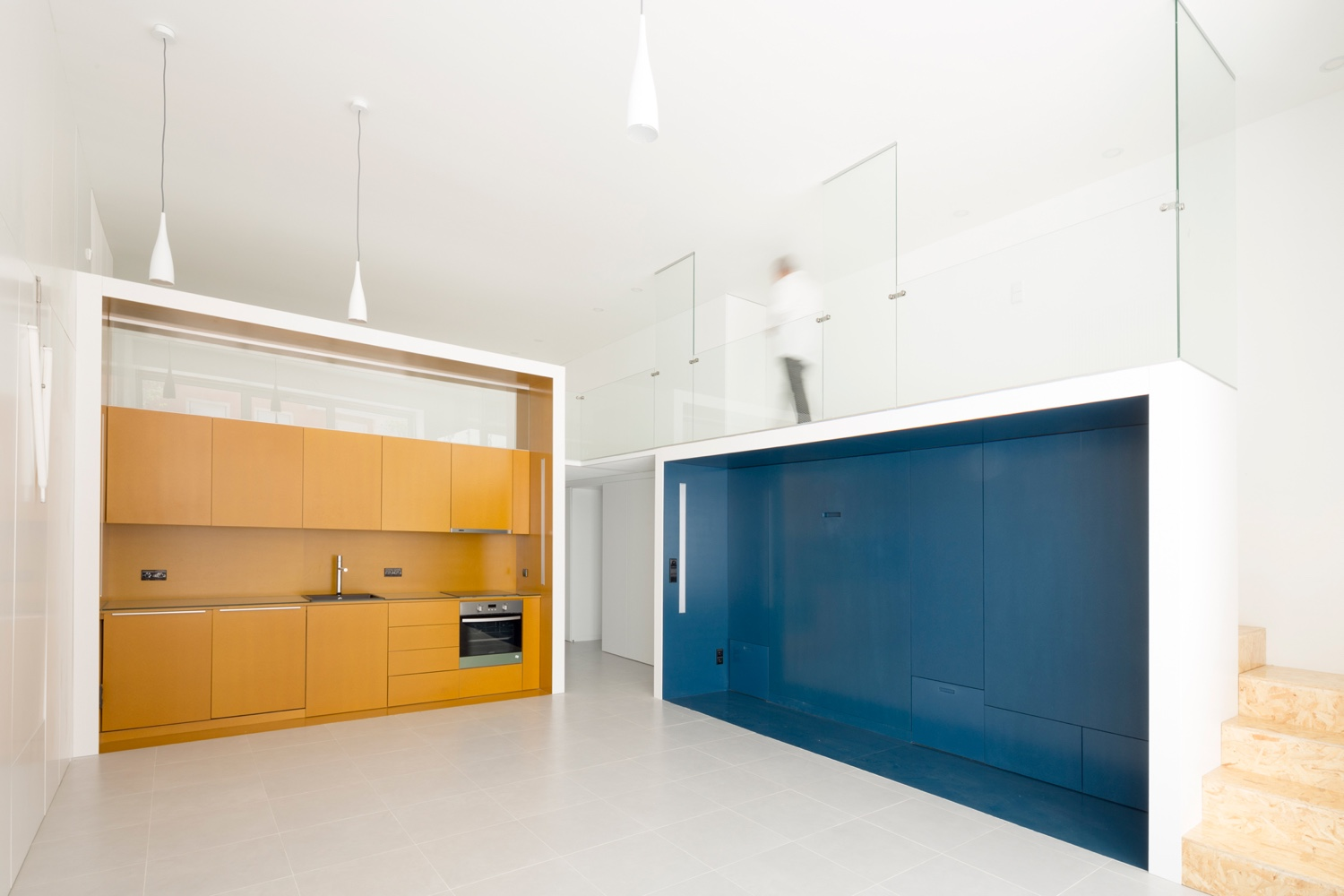 Living and sleeping modules in by studios