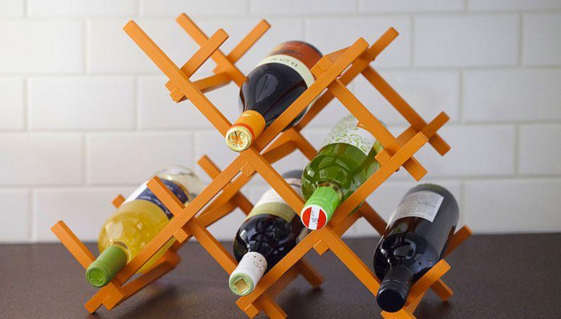 Chic DIY Countertop Wine Rack