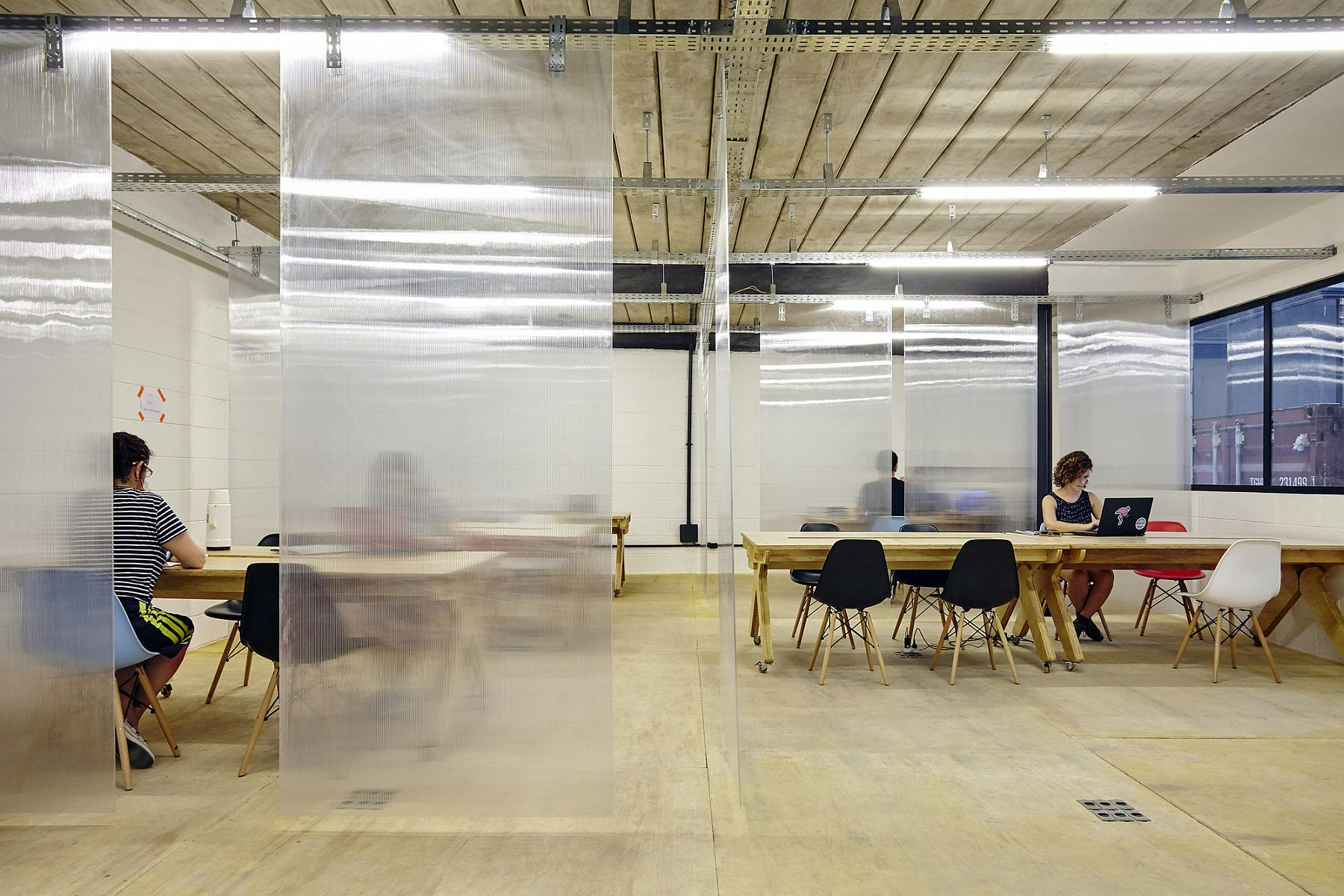 Co-working spaces inside the innovative Rio Warehouse hub