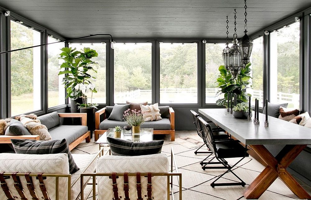 Sunroom indoor plant ideas 15 trendy and stylish inspirations for Farmhouse sunroom ideas