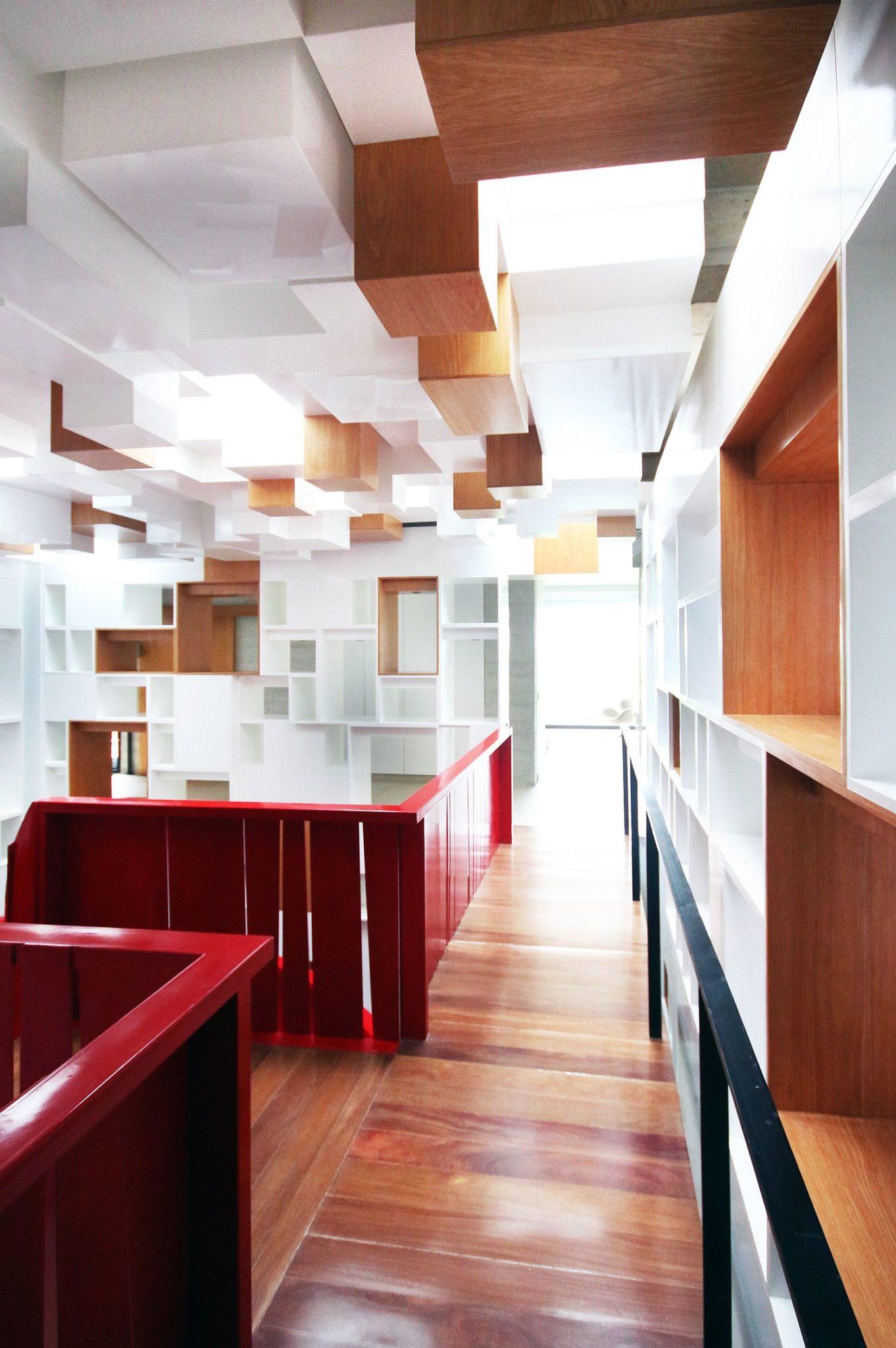 Contemporay interior of the stylish home in Peru