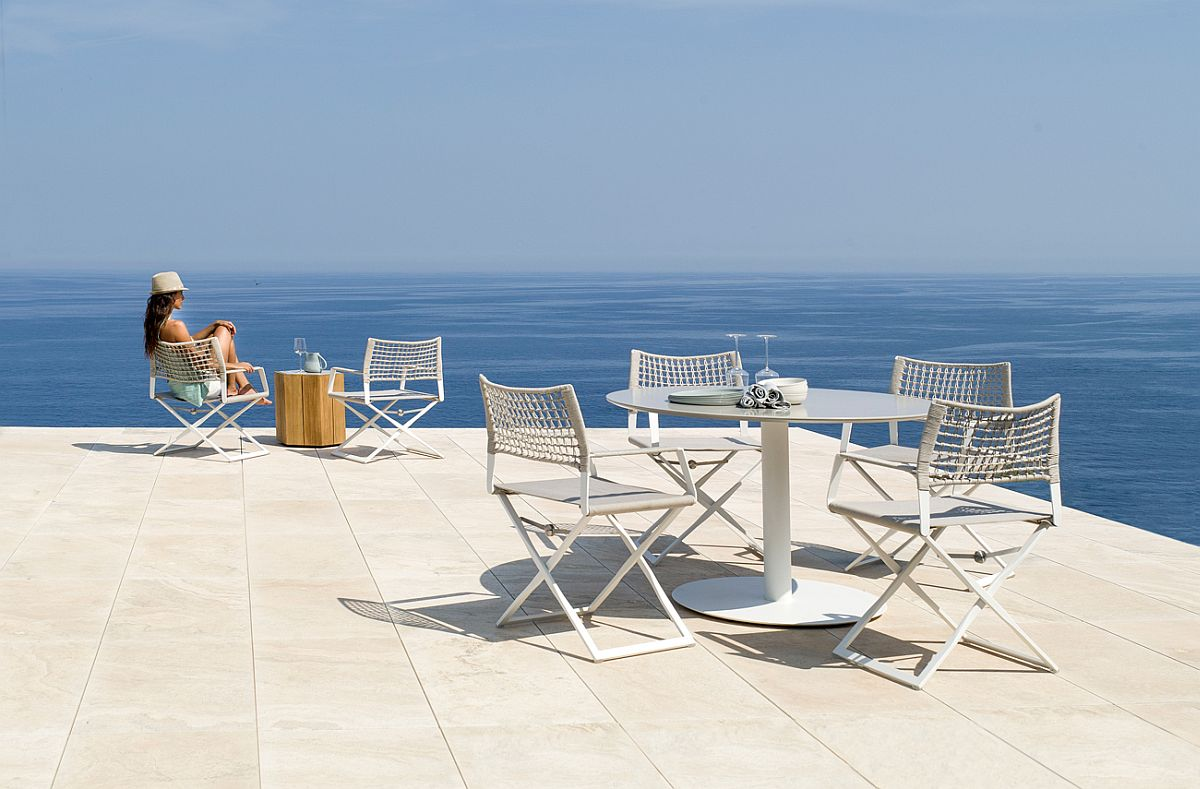 Create a breezy poolside escape with the Regista Collection of Easy Chairs and Armchair