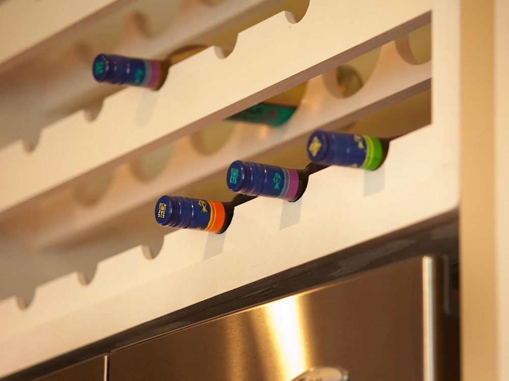 Custom DIY wine rack that becomes a part of your kitchen or dining