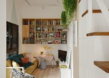 Custom-wooden-shelf-with-workdesk-underneath-217x155
