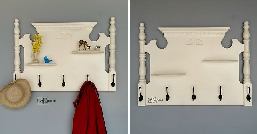 DIY headboard coat rack