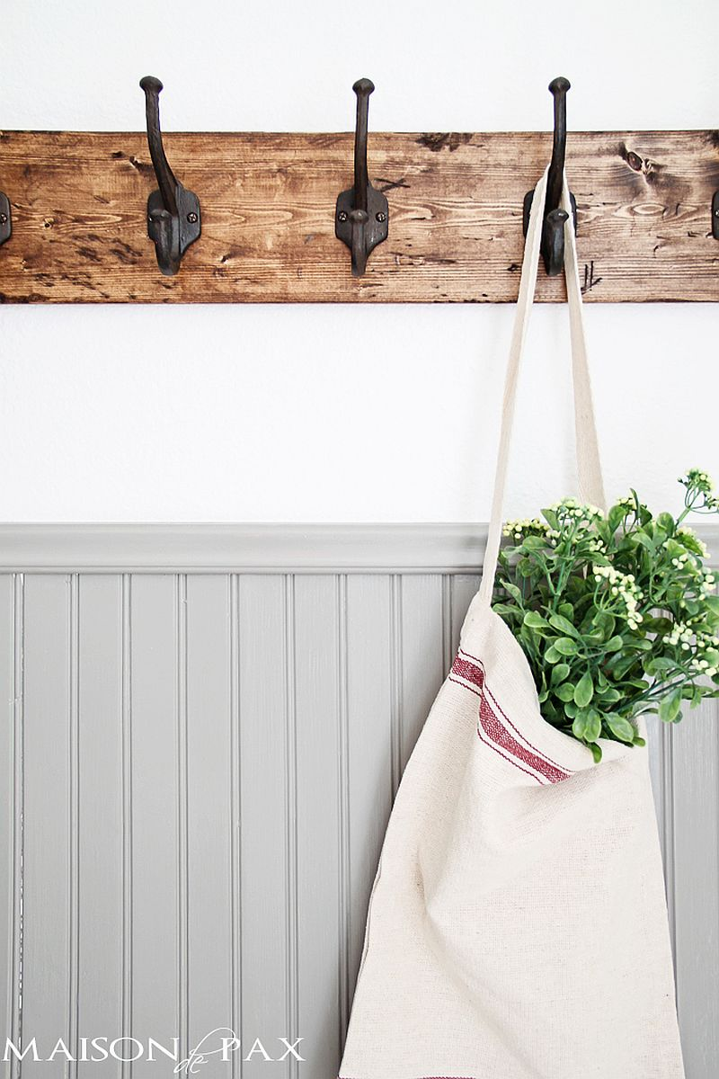 15 diy coat rack ideas that are easy and fun for Creative ideas for coat racks