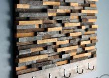 DIY wood tile coat rack idea 217x155 Hang 'Em in Style: 15 Creative DIY Coat Rack Ideas