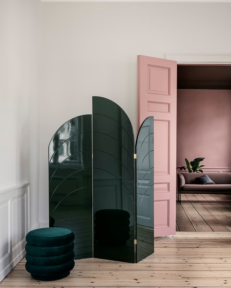 Deco-style room divider from ferm LIVING